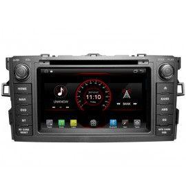 Autoradio Android GPS Bluetooth Multimédia intégré Toyota Auris de 2007 à 2012