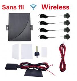 Radars de recul 4 capteurs Afficheur + bip sans fil couleur au choix