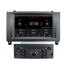 Autoradio Gris Android 8.1 Navigation GPS, Bluetooth Peugeot 407