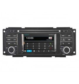 Autoradio S80 GPS Bluetooth Multimédia intégré Jeep Wrangler, Liberty, Grand Cherokee