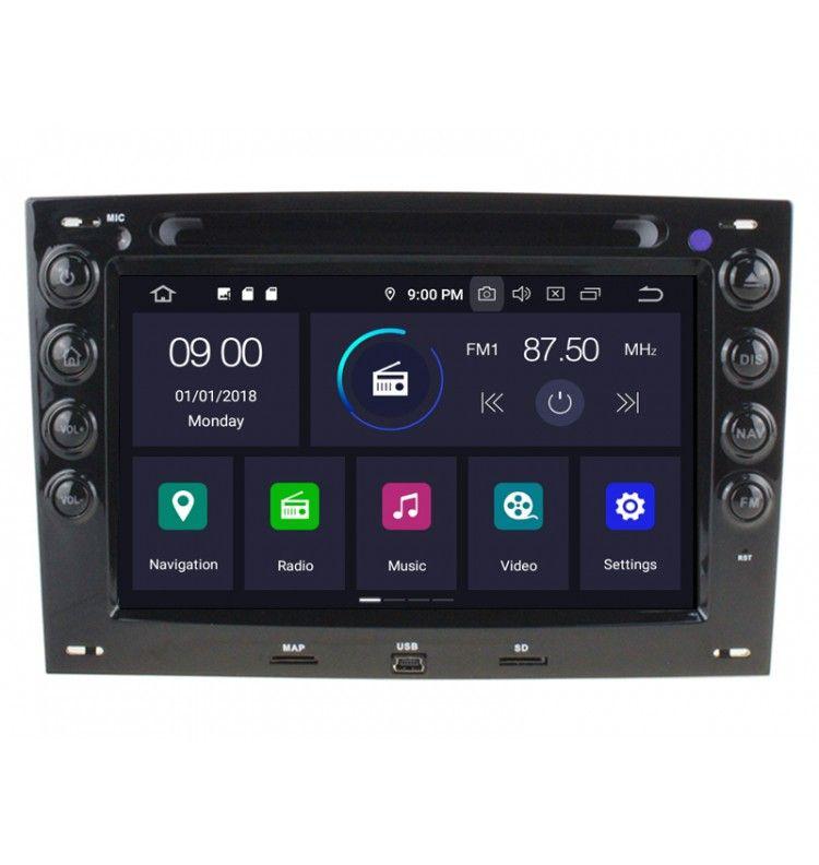 Autoradio GPS Android 10 Renault Megane 2 II - 1