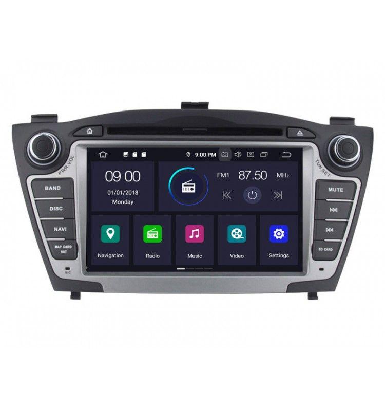 Autoradio GPS Android 9.0 Hyundai Tucson IX35 de 2009 à 2013