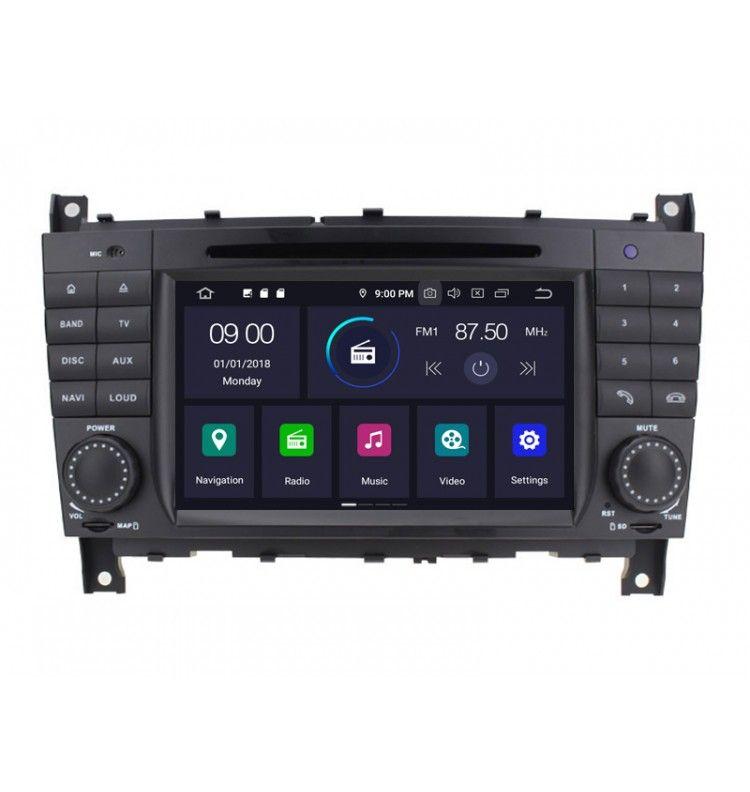 Autoradio GPS Android 9.0 Mercedes Classe C, CLC, G, C coupé
