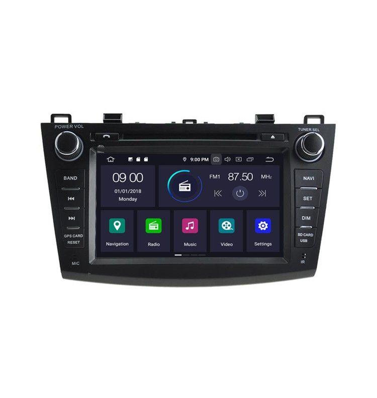 Autoradio GPS Android 9.0 Mazda 3 de 2010 à 2013
