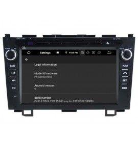 Autoradio GPS Android 9.0 Honda CR-V 2006 à 2011