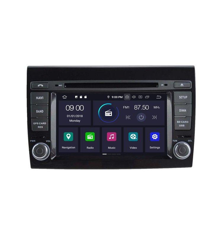 Autoradio Android 9.0 GPS, Bluetooth intégré Fiat Bravo depuis 2007