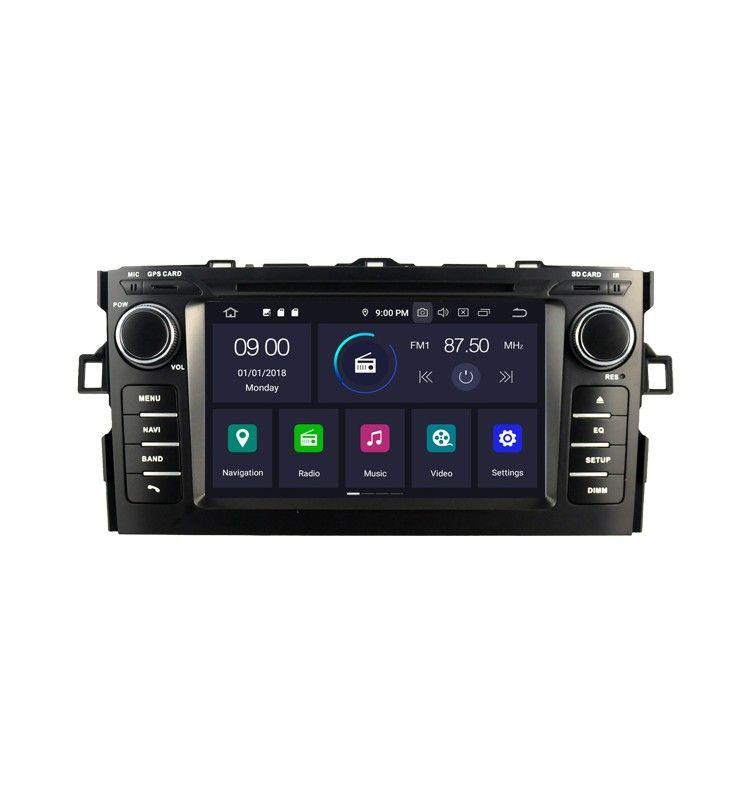 Autoradio GPS Android 10 Toyota Auris de 2008 à 2012 - 1