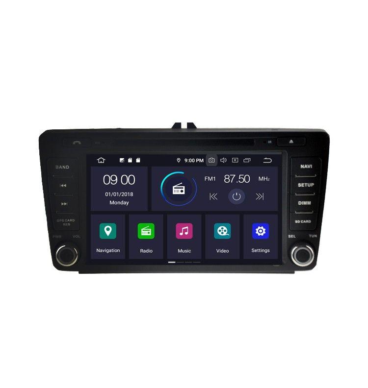 Autoradio GPS Android 9.0 Skoda Octavia avant 2013, Yeti