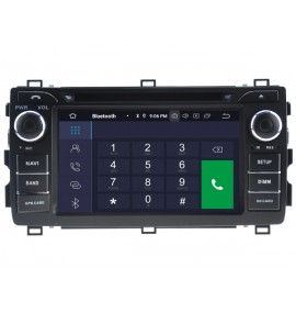 Autoradio Android 9.0 Navigation GPS, Bluetooth et MultiMedia Toyota Auris depuis 2013