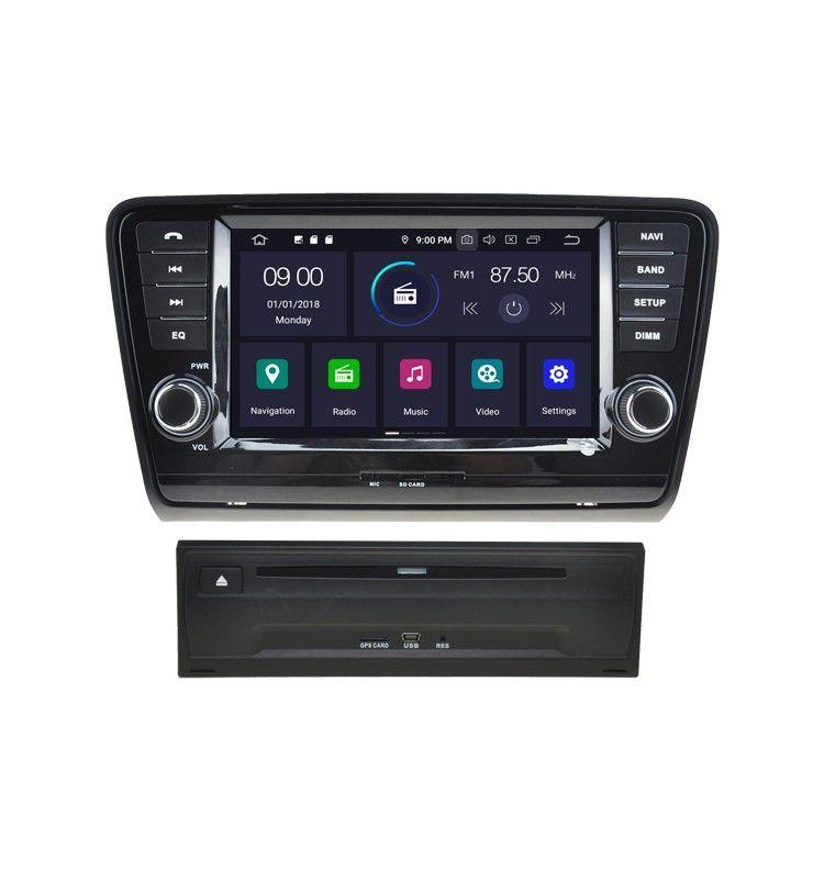 Autoradio GPS ANDROID 9.0 intégré Skoda Octavia depuis 2013