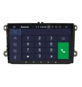 Autoradio GPS Android 9.0 Volkswagen Golf 5 6, passat, Beetle, Eos Touran T5, Tiguan, Polo, Caddy