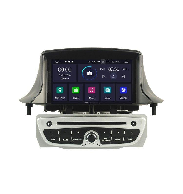 Autoradio GPS Android 10 Renault Megane 3 et Fluence Gris - 3