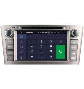Autoradio GPS Android 9.0 Bluetooth Multimédia intégré Toyota Avensis de 2003 à 11/2008