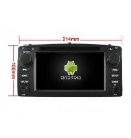 Autoradio Android 9.0 Navigation GPS, Bluetooth et MultiMedia Toyota Corolla