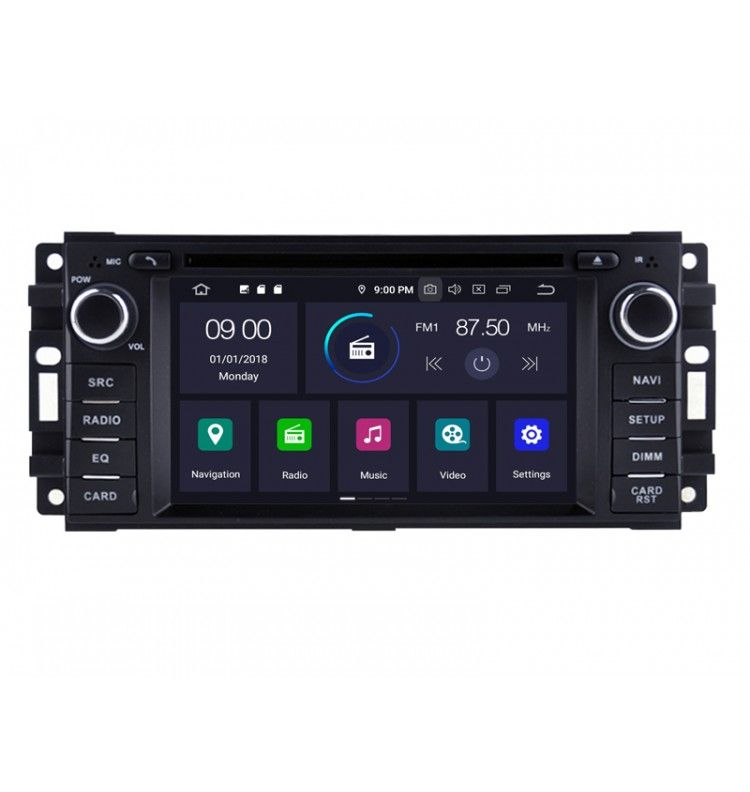 Autoradio GPS Android 9.0 Chrysler Grand Voyager , Town & country