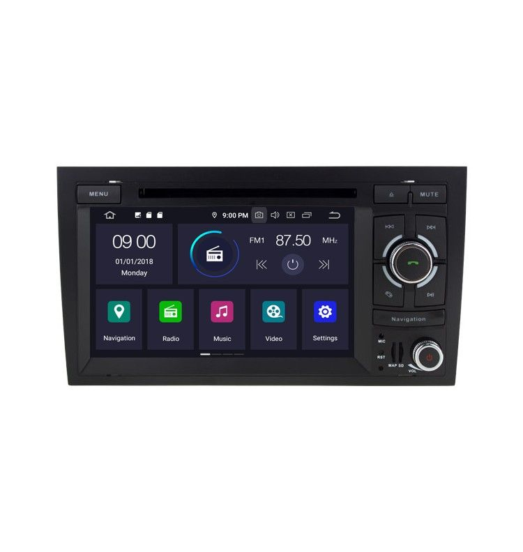 Autoradio GPS Android 10 Audi A4 S4 RS4 . - 1