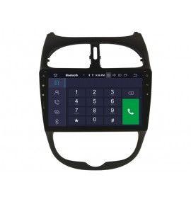 Autoradio GPS Android 9.0 Peugeot 206, 206 CC, 206 SW