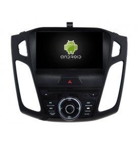 Autoradio android 9.0 GPS Bluetooth Multimédia intégré Ford Focus à partir de 2015
