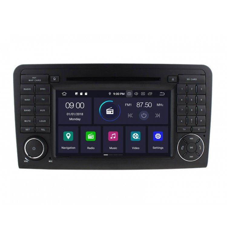 Autoradio GPS Android 9.0 Mercedes Benz ML W164, GL X164 de 2005 à 2011