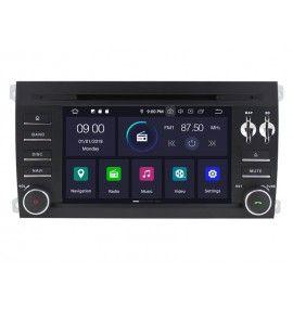 Autoradio Android 9.0 Navigation GPS, Bluetooth et MultiMedia Porsche Cayenne de 2003 à 2010
