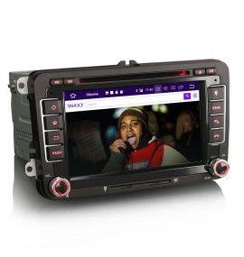 Autoradio GPS Android 10 Volkswagen Golf 5 et 6, Passat, Beetle, Eos Touran , Tiguan, Polo, Caddy et T5 - 3