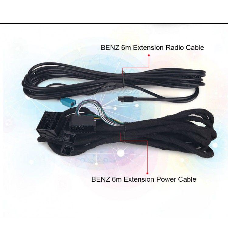 Cable 5 mètres Mercedes bypass fibre optique pour nos autoradio GPS Mercedes