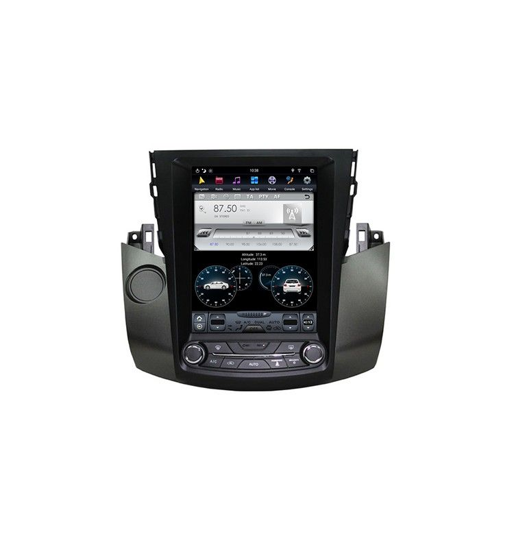 Autoradio Android 10 GPS Bluetooth Multimédia intégré Toyota RAV4 de 2006 à2012.