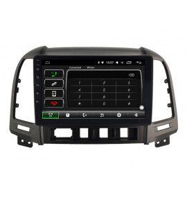 Autoradio GPS Android 10 Carplay & SIM 4G Hyundai Santa Fe de 2006 à 2012