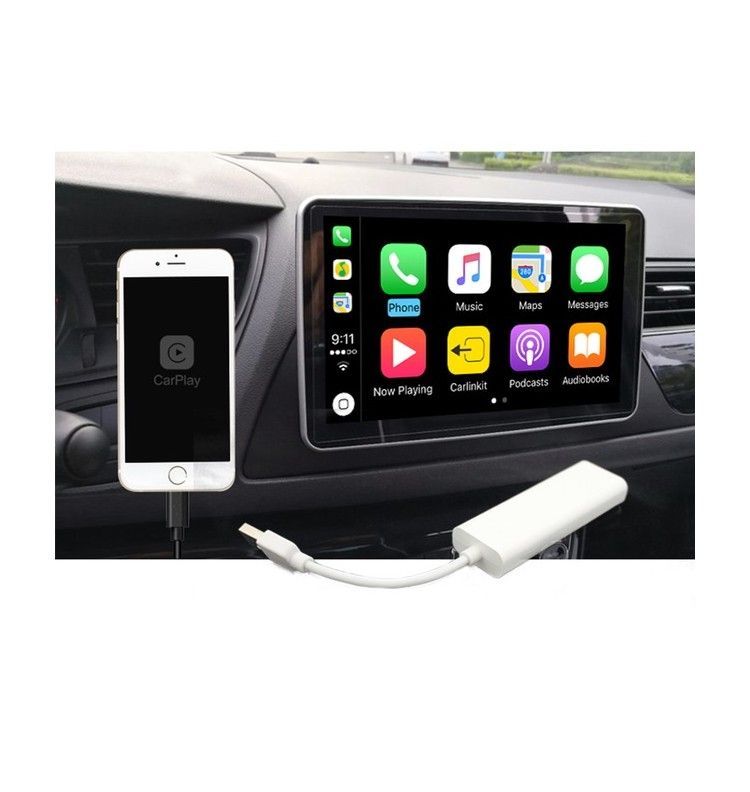 iphone apple car play android auto pour autoradio dongle usb gps access. Black Bedroom Furniture Sets. Home Design Ideas