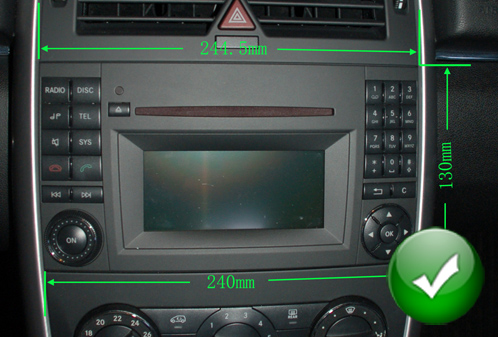 Autoradio Andro 207 D Full Tactile Gps Bluetooth Mercedes